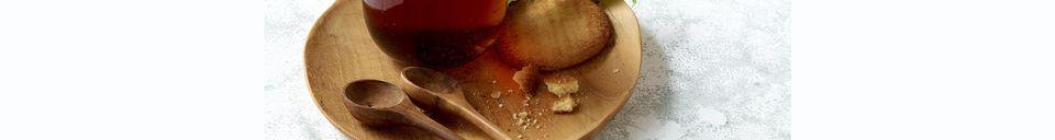 Materiali prima di tutto Algarve Piatto rotondo in legno con manico