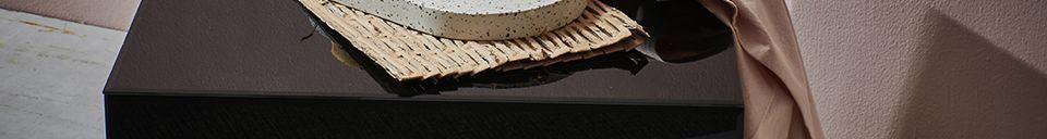Materiali prima di tutto Aussos tavolo da salotto in vimini