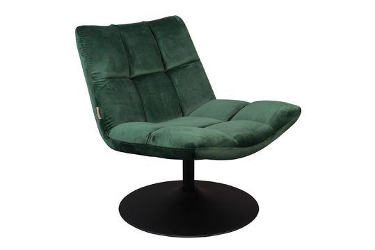 bar Sedia lounge in velluto verde