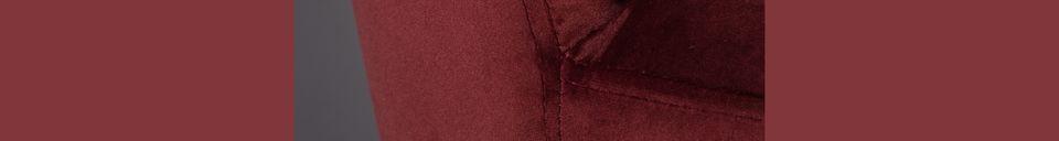 Materiali prima di tutto Barbara sedia in velluto rosso