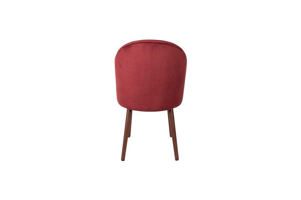 Barbara sedia in velluto rosso - 7
