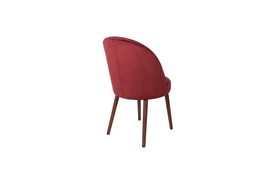 Barbara sedia in velluto rosso - 8