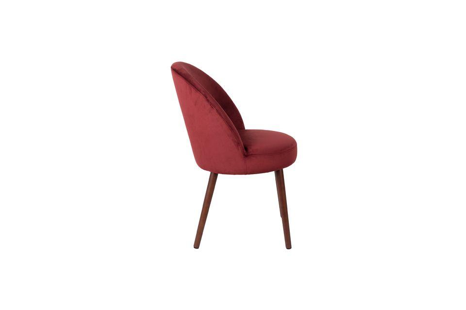 Barbara sedia in velluto rosso - 9