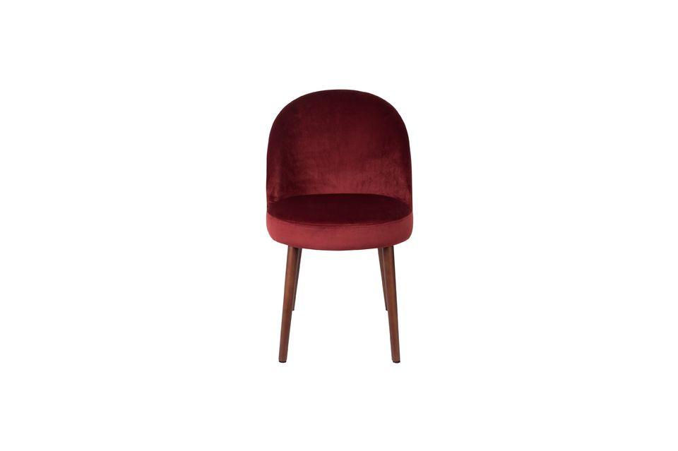Barbara sedia in velluto rosso - 10