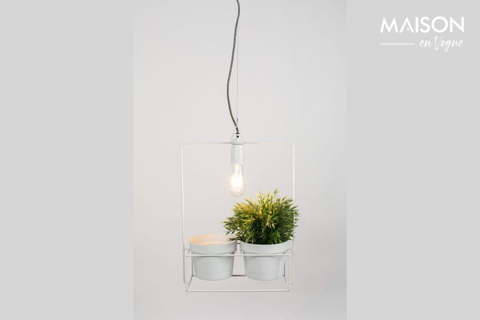 Che ne dite di mescolare una lampada con dei vasi da fiori?