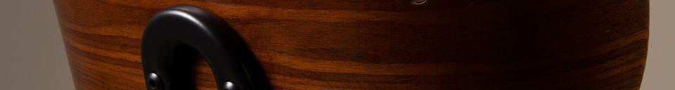Materiali prima di tutto Black Wood sedia marrone