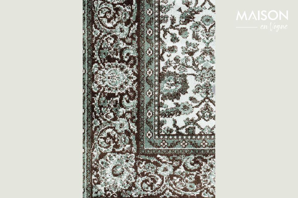 Questo accessorio decorativo ha un elegante design grafico su tutta la sua superficie
