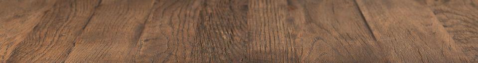 Materiali prima di tutto Braza Tavolo da banco quadrato colore marrone