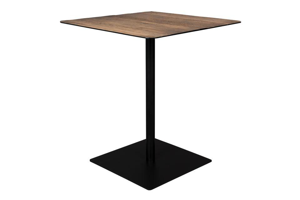 Braza Tavolo da banco quadrato colore marrone - 5