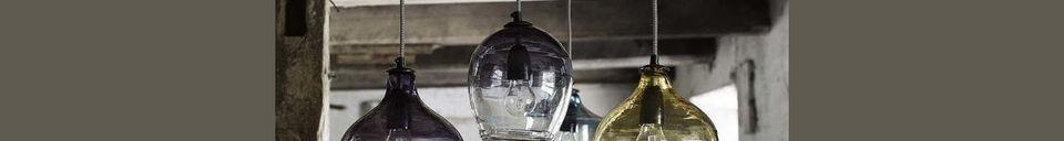 Materiali prima di tutto Bubble Ciondolo di vetro