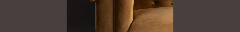 Materiali prima di tutto Chester Divano in velluto marrone dorato