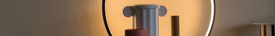 Materiali prima di tutto Collat Lampada da tavolo rotonda