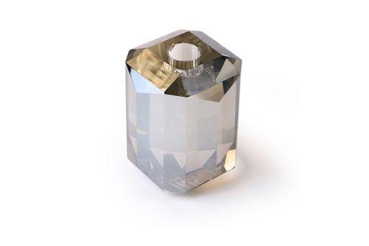Cristal portacandele in vetro grigio a diamante