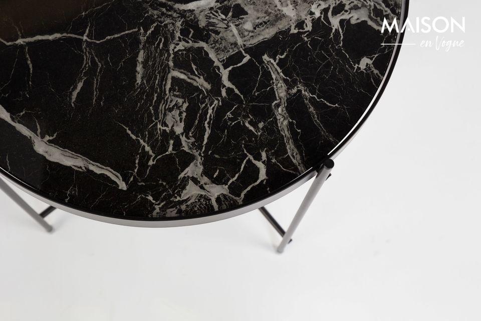 Il suo piano in vetro laminato di marmo rimovibile seduce per la sua autenticità