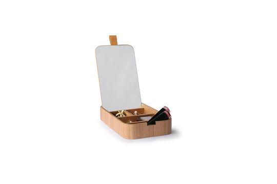 Curchy scatola specchiera in legno di salice Foto ritagliata