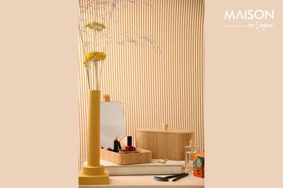 Curchy scatola specchiera in legno di salice HK Living