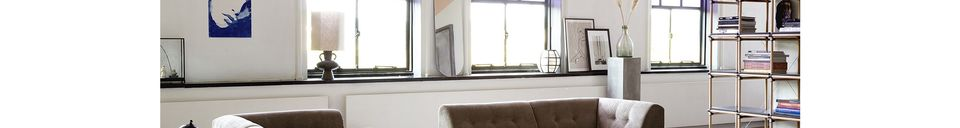 Materiali prima di tutto Curgyen Base della lampada in gres antracite formato L