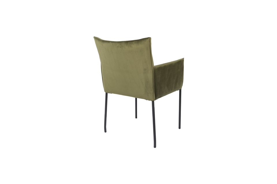 Dion Poltrona in velluto verde oliva - 7