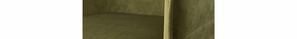 Materiali prima di tutto Dion Poltrona in velluto verde oliva