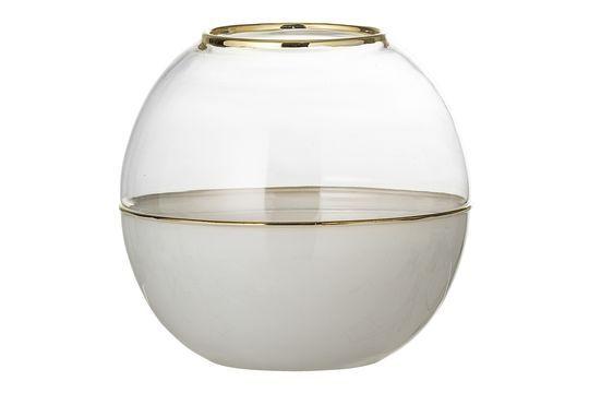 Dome Vaso in vetro bianco