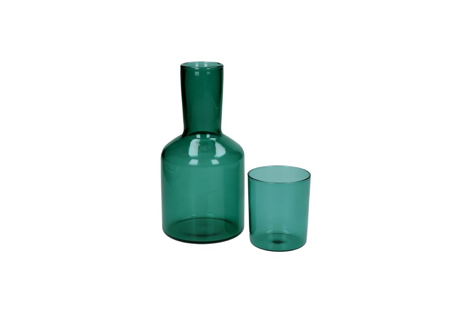 Duo di Lasi carafe e bicchiere in vetro Pomax