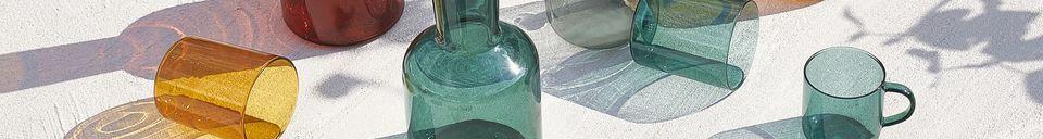 Materiali prima di tutto Duo di Lasi carafe e bicchiere in vetro