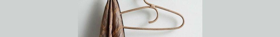 Materiali prima di tutto Edgy Ganci di legno con 6 ganci in ottone
