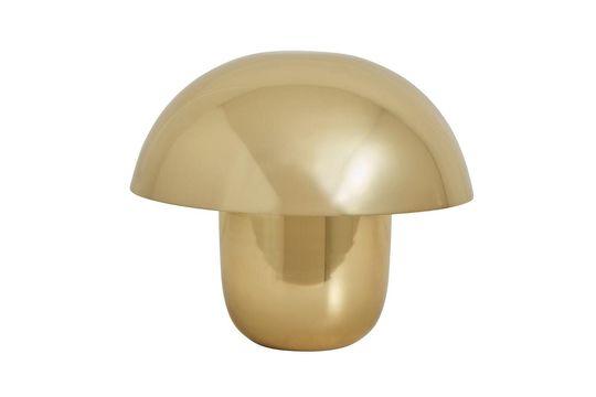Focus Lampada da tavolo in metallo placcato oro Foto ritagliata