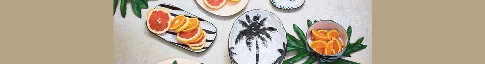 Materiali prima di tutto Fréthun piatto da minestra in porcellana di palma