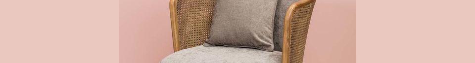 Materiali prima di tutto Gabin Poltrona e il suo cuscino