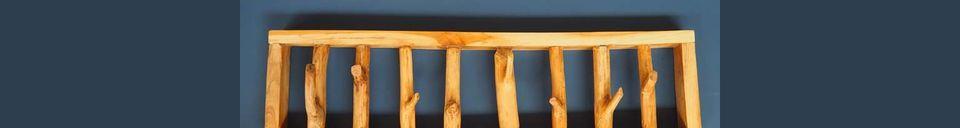 Materiali prima di tutto Gigny Appendiabiti Wood