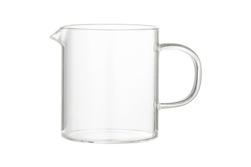 Il vetro trasparente permette di tenere d\'occhio la quantità rimanente e rimane perfettamente