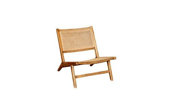 Husson Poltrona con sedile e schienale in vimini