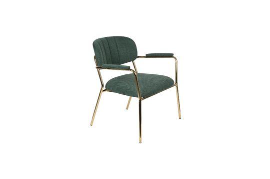 Jolien Sedia lounge con braccioli in oro e verde scuro Foto ritagliata