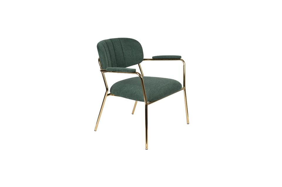Jolien Sedia lounge con braccioli in oro e verde scuro White Label