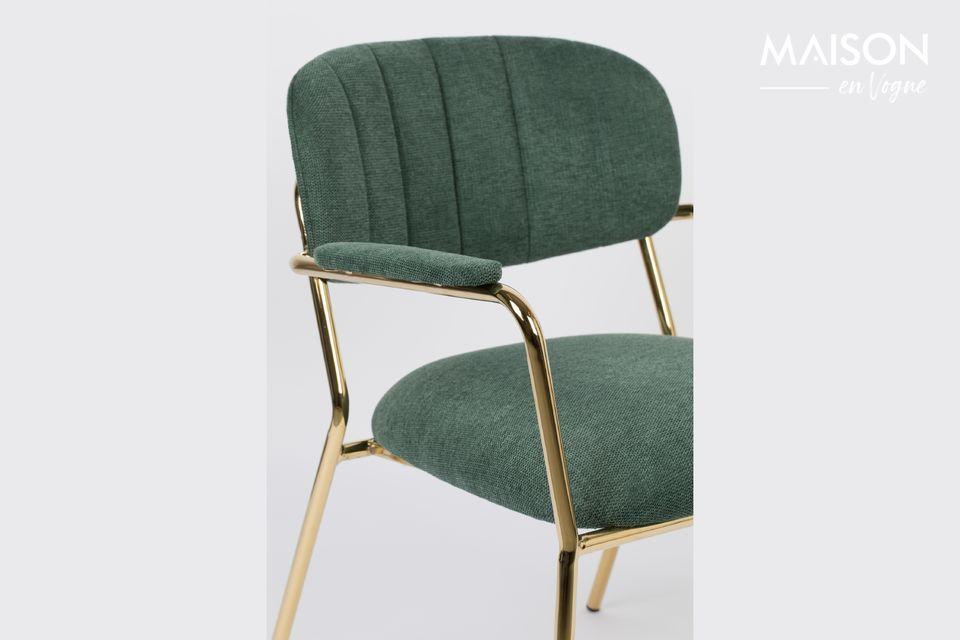 White label living propone una bella poltrona lounge verde scuro con gambe dorate dell\'effetto più