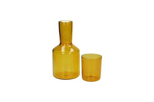 Lasi Carafe e bicchiere abbinatoin vetro Foto ritagliata