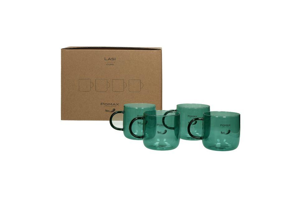 Queste 4 tazze da caffè sono alte 8 cm e hanno un diametro di 8,5 cm