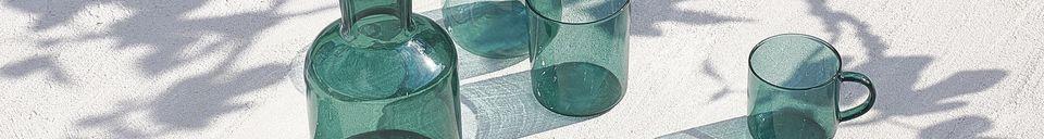 Materiali prima di tutto Lasi Scatola da 4 tazze in vetro borosilicato