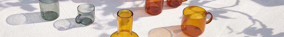 Materiali prima di tutto Lasi Scatola da 4 tazze per Espresso ambre scure