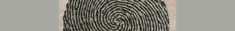 Materiali prima di tutto Laveyron Tovaglietta a spirale in giunco di mare naturale
