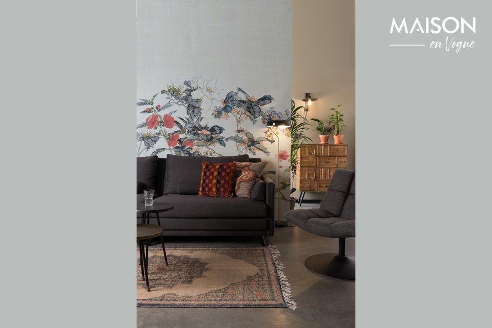 Divano grigio 3,5 posti più elegante
