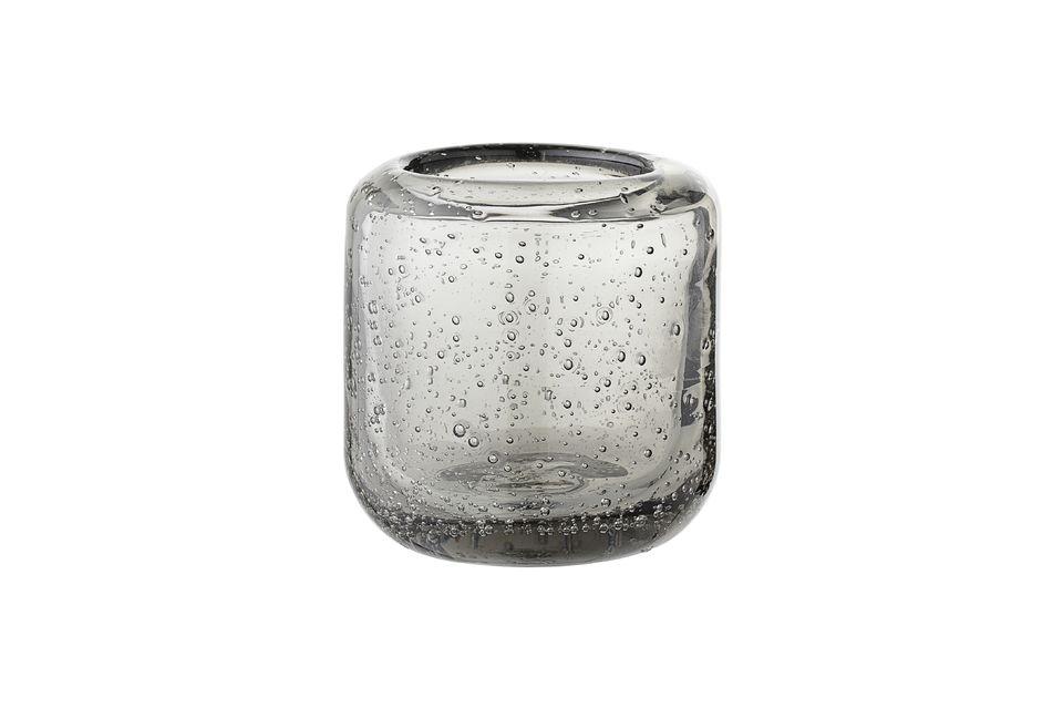 Luzillat Lanterna in vetro grigio per candela votiva Bloomingville