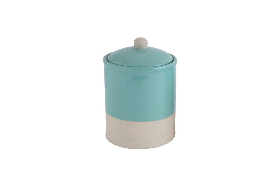 Mantet Vaso con coperchio Blue Bloomingville