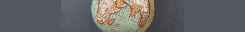 Materiali prima di tutto Mappa del mondo di Riverie Vintage in legno a base di legno