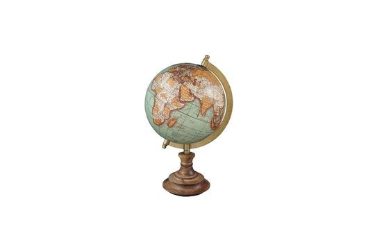 Mappa del mondo di Riverie Vintage in legno a base di legno