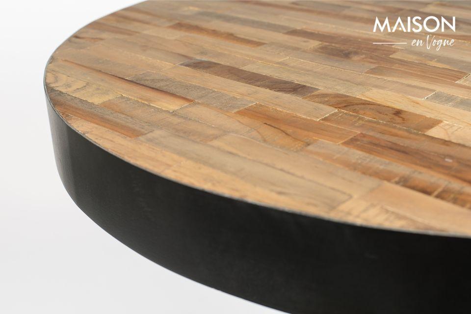 Con questo tavolino da bar Natural Round Maze