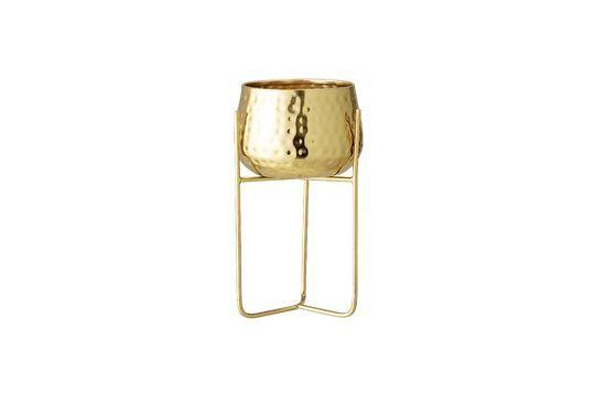 Monthaut Vaso da fiori in metallo dorato Foto ritagliata