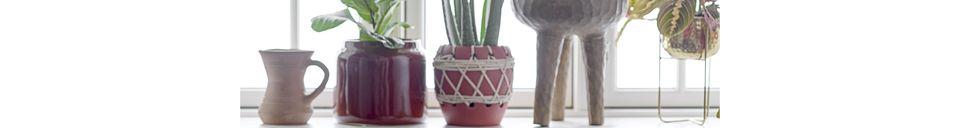 Materiali prima di tutto Monthaut Vaso da fiori in metallo dorato