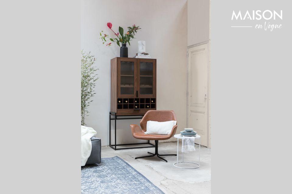 Elegante poltrona lounge in pelle PU